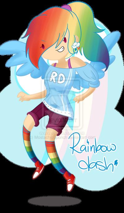 .Rainbow Dash. by CosmicPonye