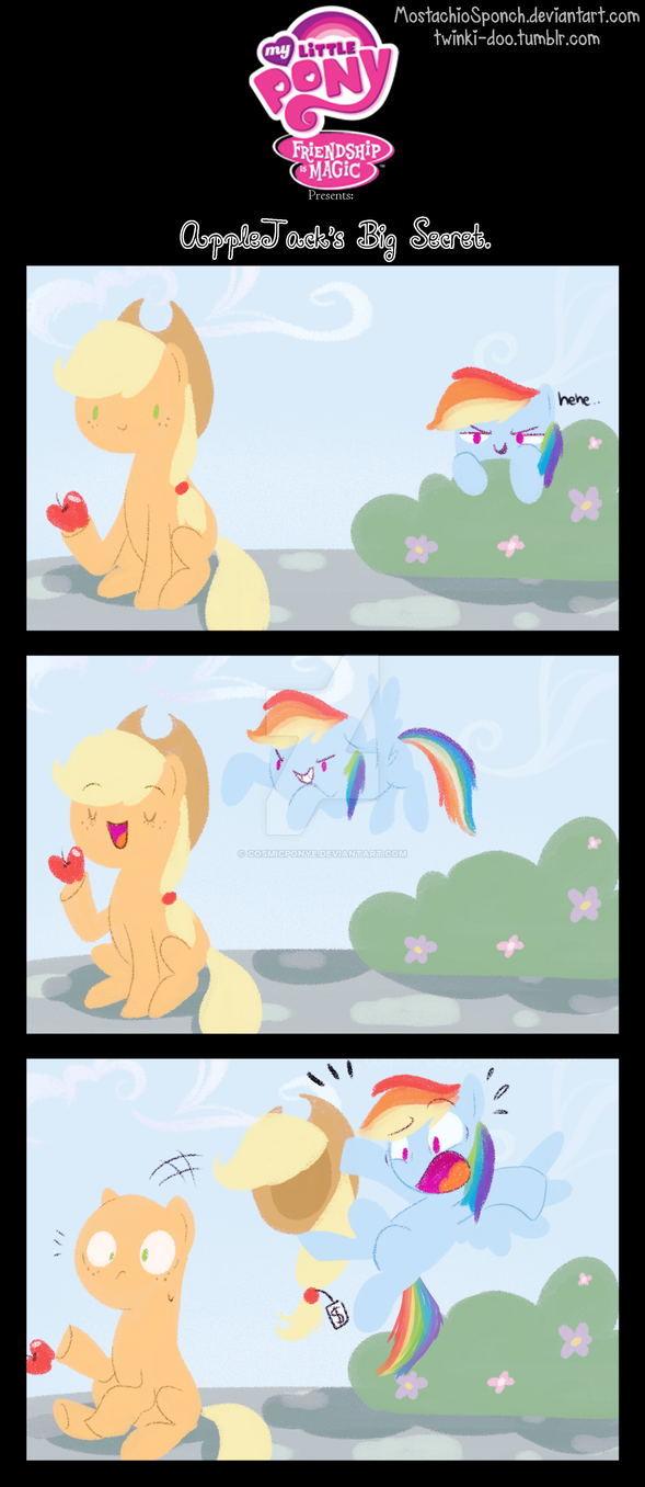 Applejack's big secret by CosmicPonye