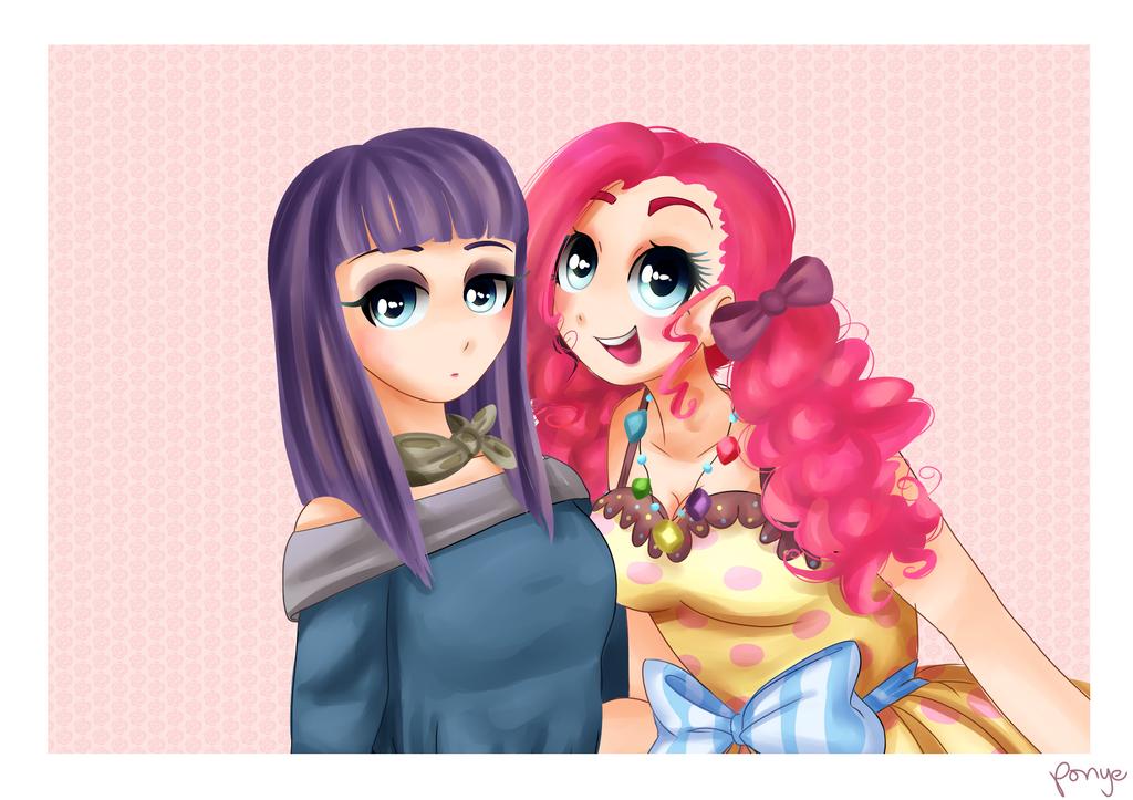 Maud Pie And Pinkie Pie by CosmicPonye