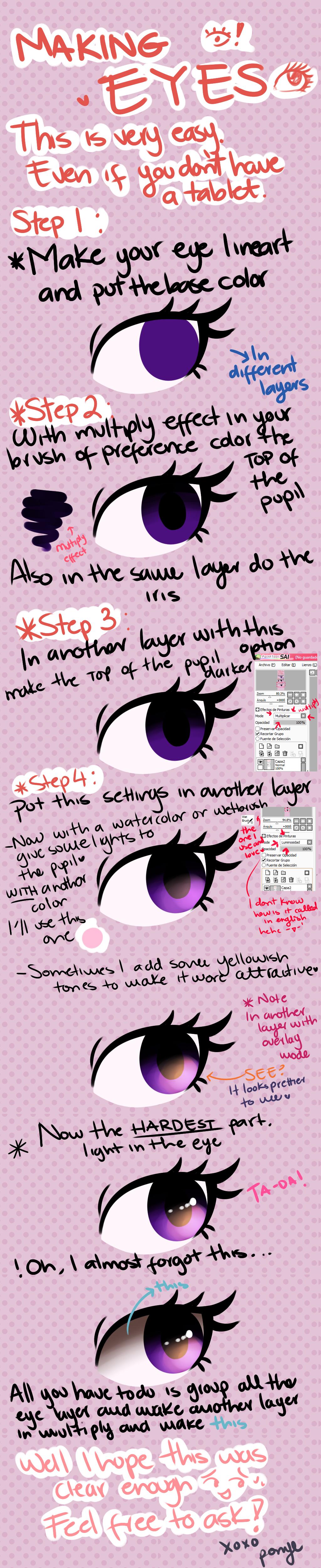 Easy Eyes Tutorial by CosmicPonye