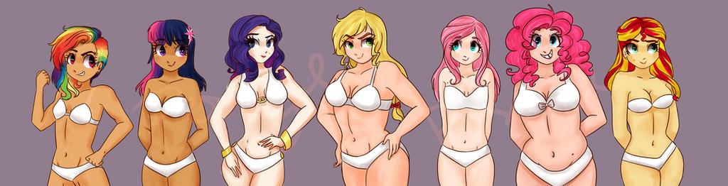 Main Seven Body Types by CosmicPonye