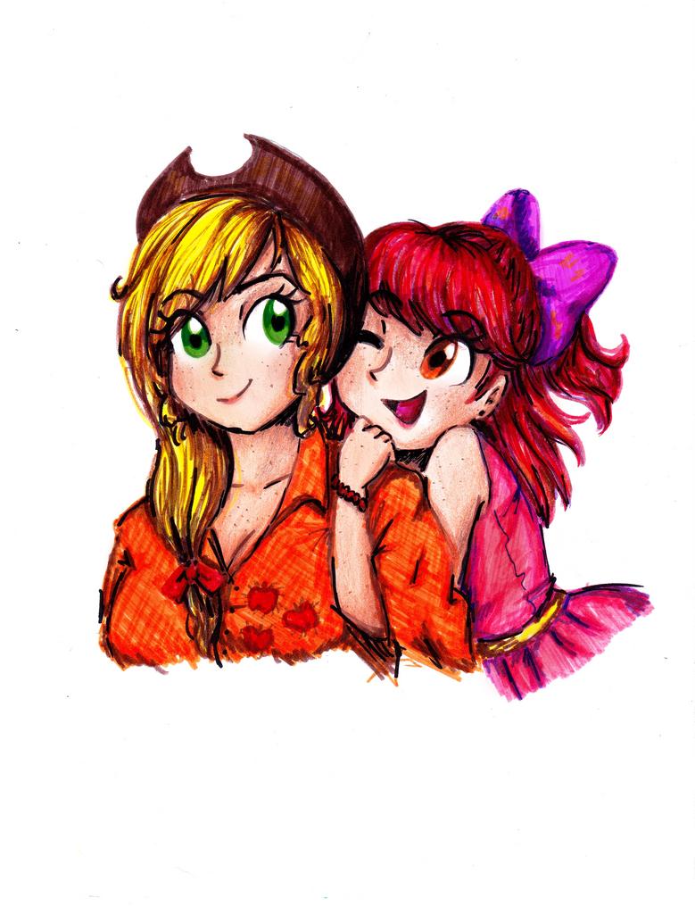 Apple Sisters by CosmicPonye