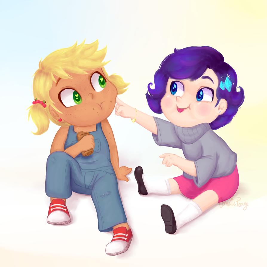 Gift - Babies by CosmicPonye