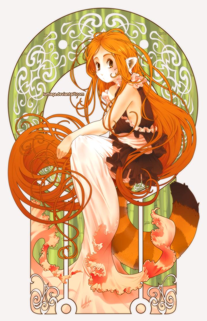 Red panda by Lumaga