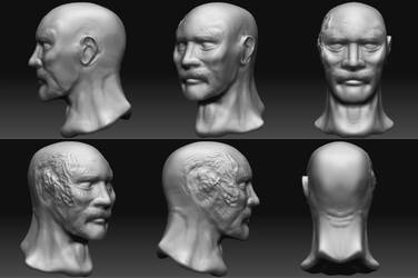 Zbrush Burned Head by frogman354