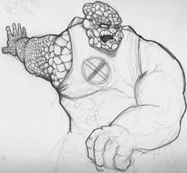 rockslide sketch by frogman354