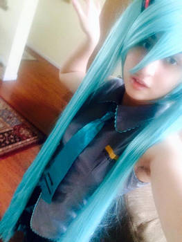 Hatsune Miku cosplay test
