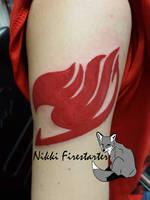 Fairytale Natsu's Tattoo by NikkiFirestarter