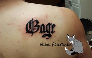 Gage Tattoo by NikkiFirestarter