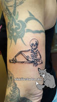 Skeleton Tattoo by NikkiFirestarter