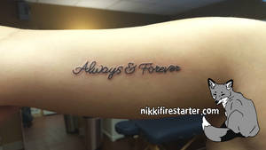 Always and Forever Tattoo by NikkiFirestarter