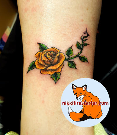 Yellow Rose Tattoo by NikkiFirestarter on DeviantArt