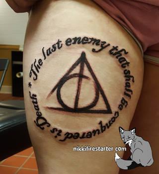 Deathly Hallows Tattoo by NikkiFirestarter