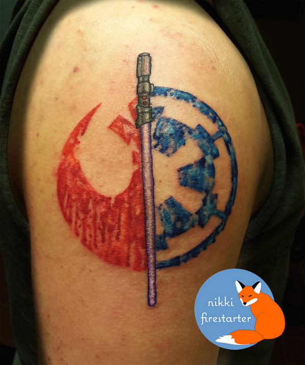 Balance of the Force Tattoo by NikkiFirestarter