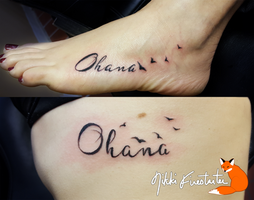 Ohana Tattoos by NikkiFirestarter