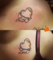 Faith and Love Tattoos by NikkiFirestarter