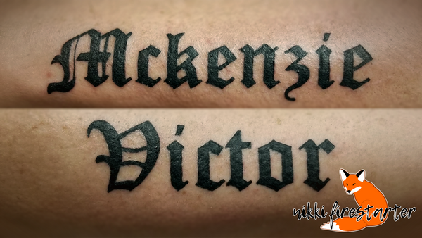 Kid Names Tattoo by NikkiFirestarter