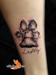 Lefty Paw Print Tattoo