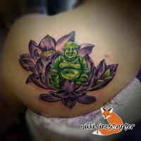 Jade Buddha Tattoo by NikkiFirestarter