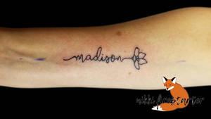 Name with Flower Tattoo by NikkiFirestarter