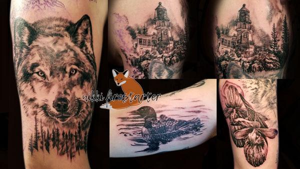 [WIP] Minnesota Sleeve Tattoo by NikkiFirestarter