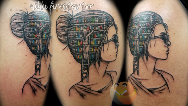 Library Headspace Tattoo