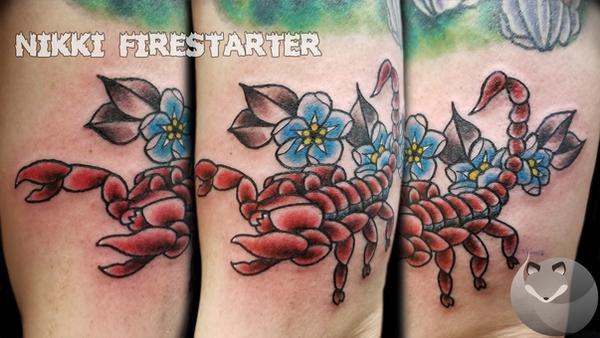 Scorpion Flash Tattoo