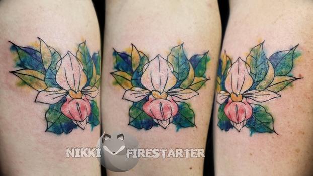 Lady's Slipper Tattoo