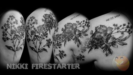 Xray Flowers Tattoo
