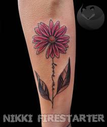 Love Me Daisy Tattoo