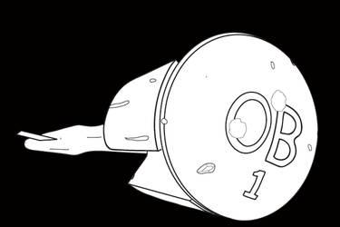Starship OB-1 Lineart