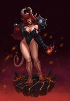 demon girl by Trassnick