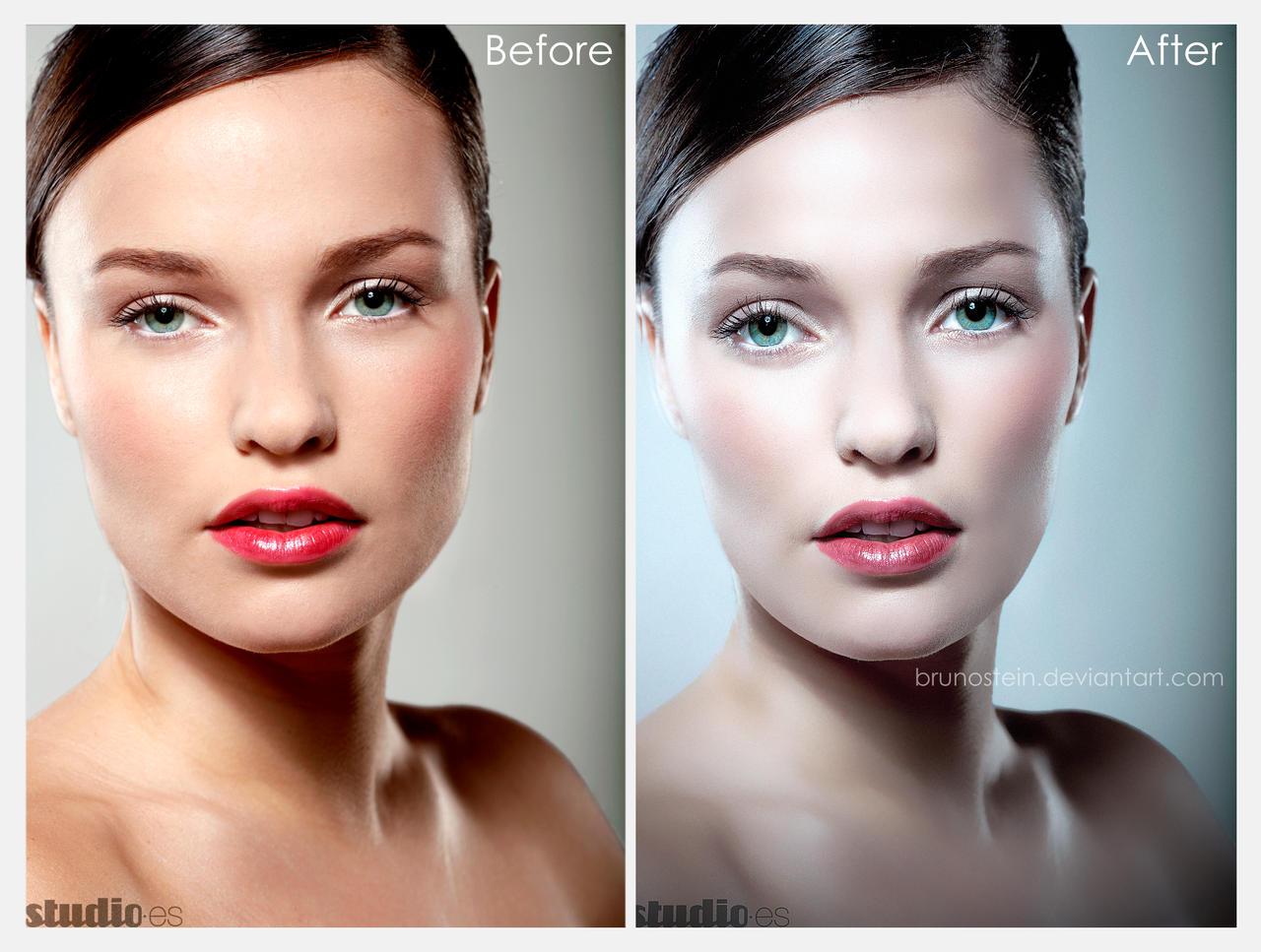 Ретушь фото с макияжем