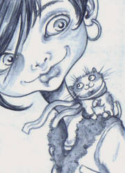 ACEO - Teeny Tiny Mittened Kitten by KootiesMom
