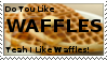 Do You Like Waffles Stamp by PuffBros