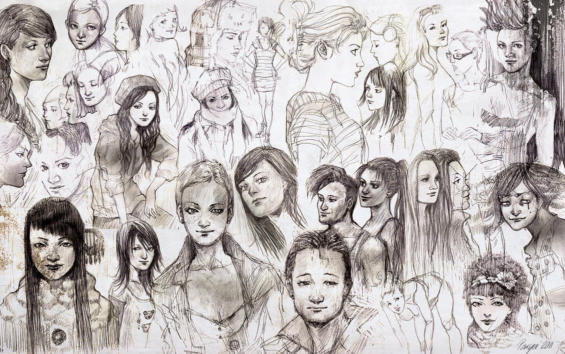 sketchdump by Parya