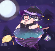 COMMISSION: Chubby Witch Cutie