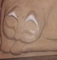 Sleeping Cat W.I.P, schlafende Katze aus Sandstein