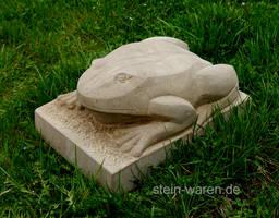 Frog Sandstone Frosch aus Sandstein Stone Carving