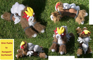 Entei Plushie by racingwolf