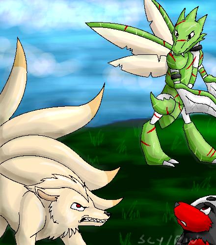 Fighting Again by racingwolf