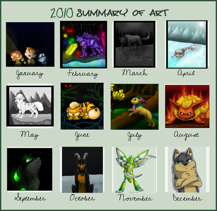 2010 Summary of Art by racingwolf