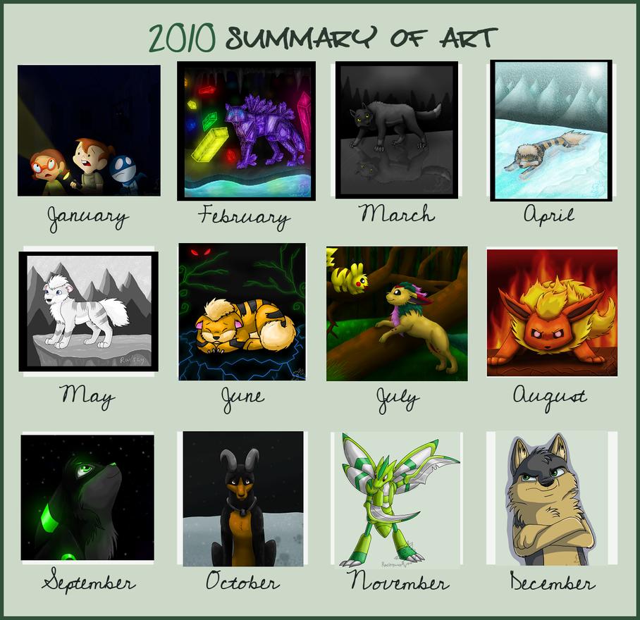2010 Summary of Art by racingwolf