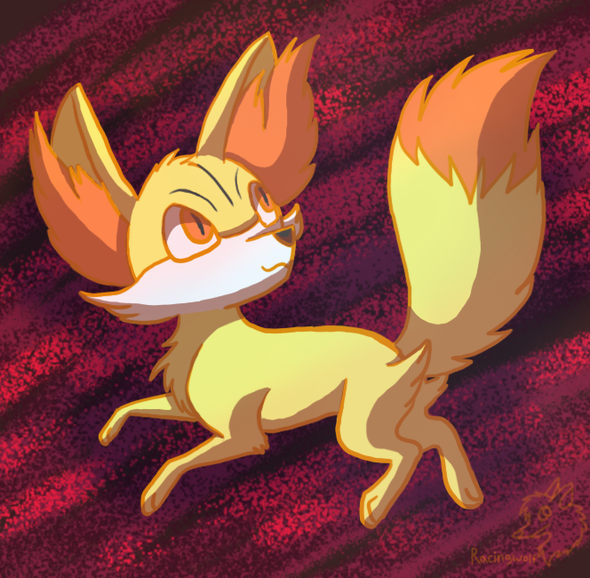 Fennekin by racingwolf