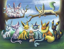 Eeveelutions by racingwolf