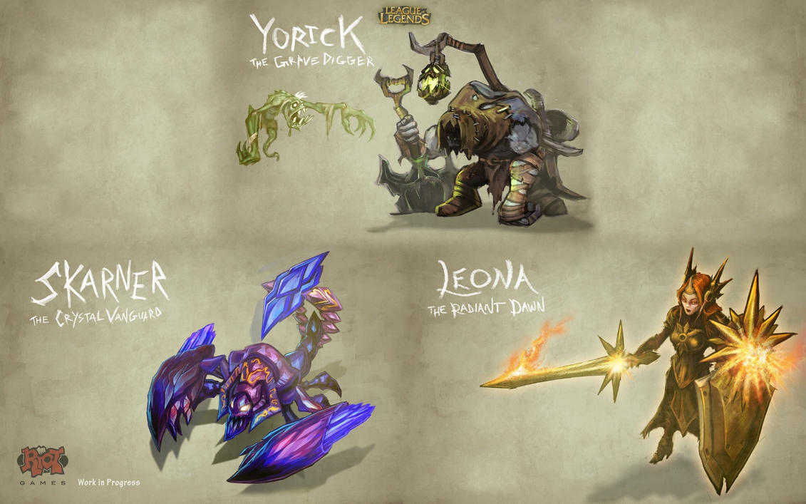 Yorick, Skarner, Leona WP by Clocktown