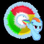 Google Chrome Rainbow Dash ICO