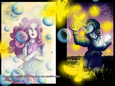 Secret Valetine Fluorite And Ugly Pearl by Maystrine