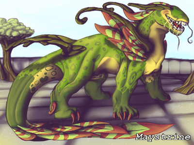 The Biting Pear of Salamanca but a Dragon by Maystrine