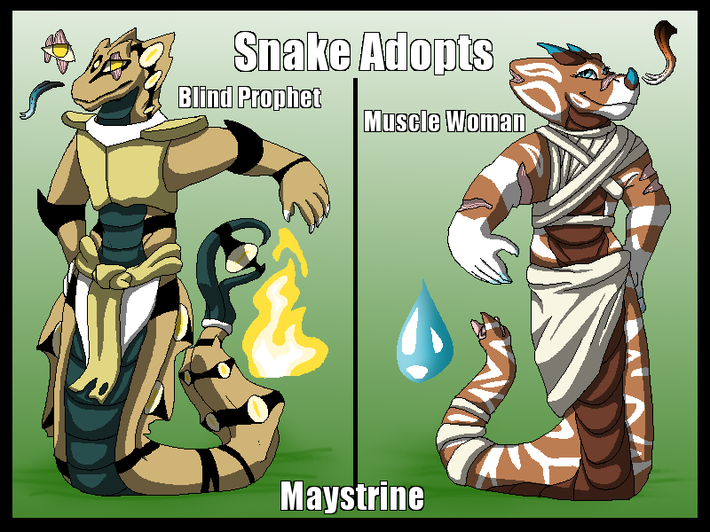 Snakes Offer to Adopt (2/2 Open) by Maystrine